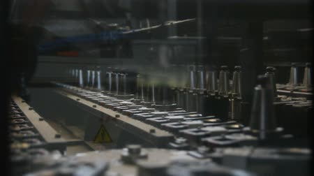 üretim : industrial production line Stok Video