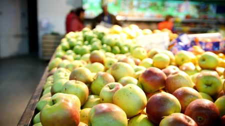 groentewinkel : Gele appels in fruit Department of supermarkt