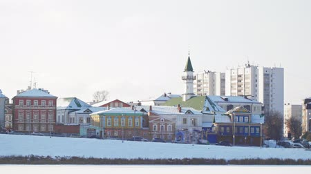tatar : KAZAN, RUSSIA, View of Marjani Mosque on winter Kaban lake. Marjani mosque is the oldest and famous mosque in Tatarstan