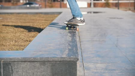 kickflip : Skateboarder jumping to the ramp on the board