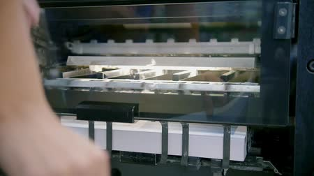 nakladatelství : Professional printing press production line in printing house