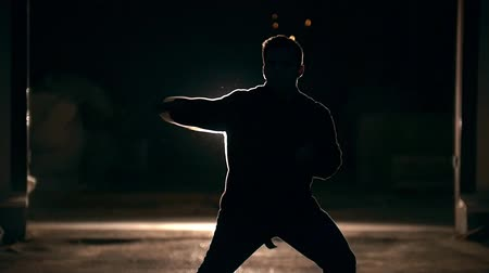 tekmeleme : Kick of hand , tricks of martial arts, night