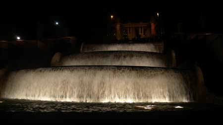 fontain : Fountain in waterfall shape at late evening