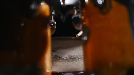 zenekar : Drum kit close up shot.