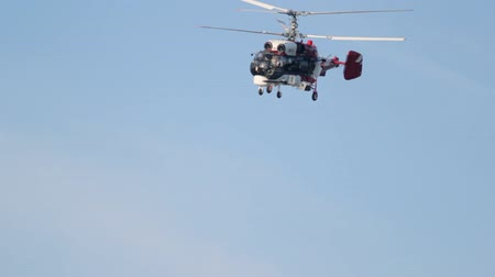 letec : Kazan, Russian Federation - August 2018, - helicopter ka-32 flying in the sky