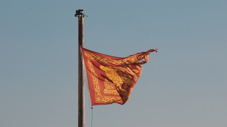 alado : Winged flag of Republic of venice. Flag with the Lion of St. Mark