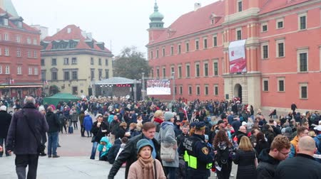 ocupação profissional : POLAND, WARSAW 9-11-2018: centenary of independence day polish. Crowd of people