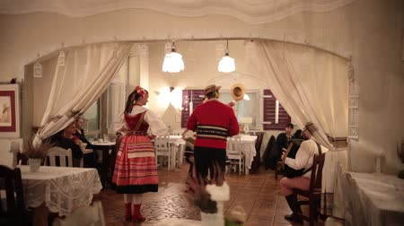 warszawa : POLAND, WARSAW 9-11-2018: A costumed event. People dancing natilonal dances in authentic costumes