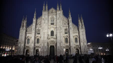 milan : MILAN, ITALY 11-11-18: Duomo Cathedral at the night time