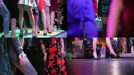 modelagem : 4 in 1 - fashion models walking on the stage