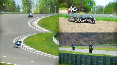 autobike : 4 in 1: Motorcycle competitions, turn to the right, people compete