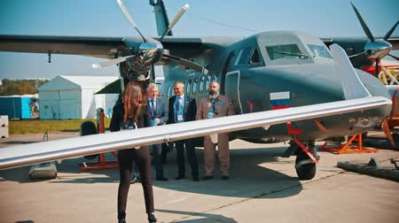 sierpien : 30 AUGUST 2019 MOSCOW, RUSSIA: An outdoors aircraft exhibition - a