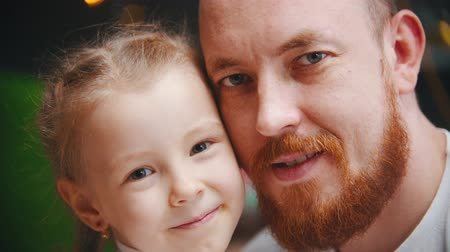 podobný : Caucasian family - a dad and daughter - a man with ginger beard