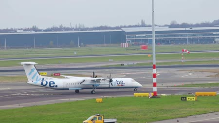 departing : 23-11-2019 NETHERLANDS, AMSTERDAM: - Airplane of FLYBE on the runway