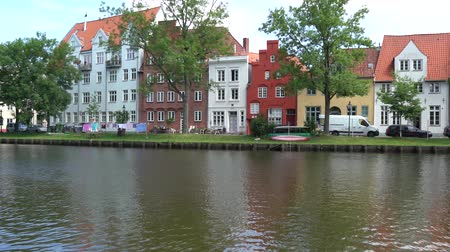 lubeck : Luebeck, View of the city from river.