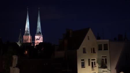 administracja : Luebeck, View of the old night city.