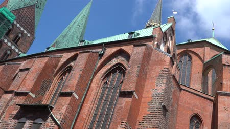 lubeck : Luebeck, View of the Marienkirche.