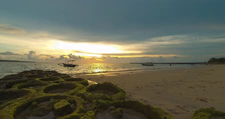 bratan : Sunset on the beach of Jimbaran. Bali Time lapse Stock Footage