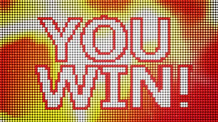 sortudo : You win LED screen loop