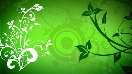 freshness background : vector flowers 2 loop Stock Footage