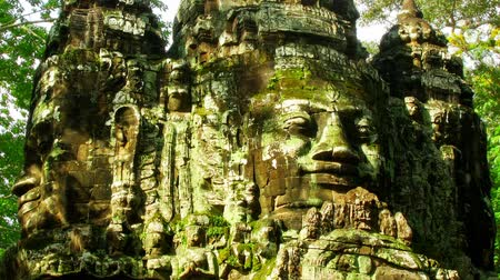 ruiny : Angkor faces time lapse loop Wideo