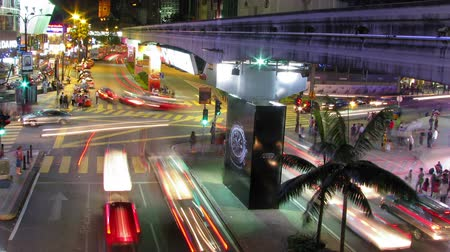 város : City traffic lights time lapse