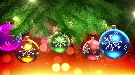 dekoracje : Christmas tree and decorations loop Wideo
