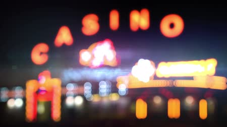 letreiro : Night casino lights loop