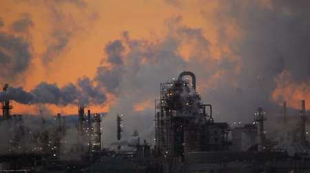 exterior : pollution, ecology Stock Footage