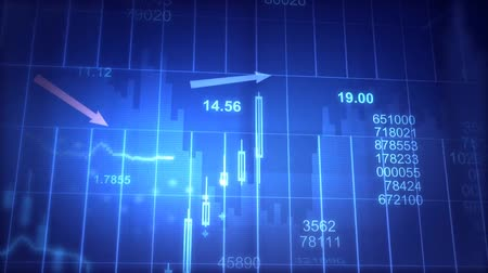 mozgás : financial charts with increasing profits blue and white economy background