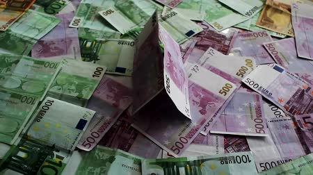 enriching : Euro banknotes close-up Stock Footage