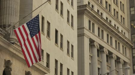 president of united states : US flag on building