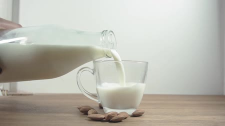 pitcher : mug of fresh milk Stock Footage