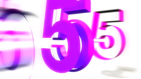 sayma : Animation of a 3D Graphic Countdown from 10 to 1