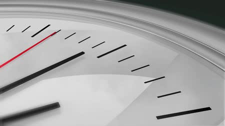 zegar : Three dimensional close-up animation of a chrome clock ticking. High definition 1080p. Wideo