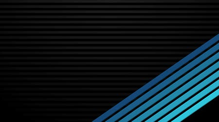 exiting : Computer generated abstract animations of blue bars entering and exiting over a black background. Four loop-ready styles, suitable for title plates.