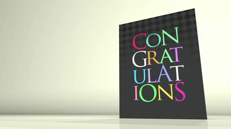 Поздравляю : Animation of a greetings card showing a Congratulations message.