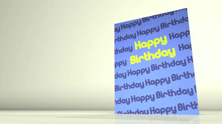 dilek : Animation of a greetings card showing a Happy Birthday message.