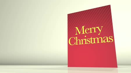feliz natal : Animation of a greetings card showing a Merry Christmas message.