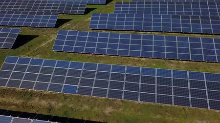 Aerial view of solar farm in South of France