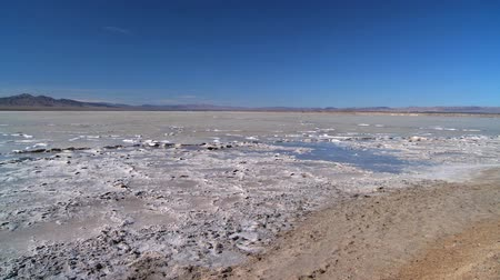 chloride : The barren environmental landscape of a salt lake farm in Utah