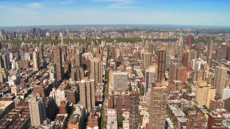 arrabaldes : Skyline Aerial view of the Upper East Side and Central Park, Manhattan, New York city, North America