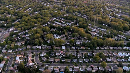 arrabaldes : Aerial view of homes in the suburbs of New Jersey, New York State, North America, USA