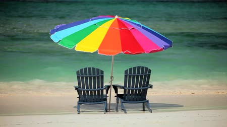 rejtekhely : Beach Chairs & Parasol on Luxury Island