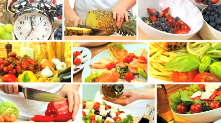 потеря : Montage collection of fresh tasty food choices for a modern healthy lifestyle