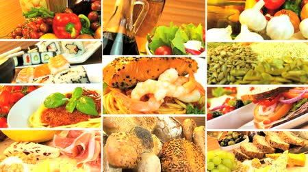 sağlıklı beslenme : Montage collection showing healthy daily meals for modern lifestyle eating