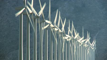 türbin : Wind turbines producing clean alternative energy in barren landscape