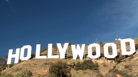 registrati : Iconic scritta Hollywood sulle colline sopra Los Angeles, Stati Uniti d'America
