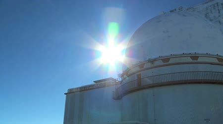 domed structure : Domed astronomical observatory in close-up