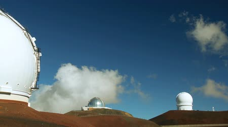 domed structure : Domed buildings of astronomy observatory on Big Island, Hawaii